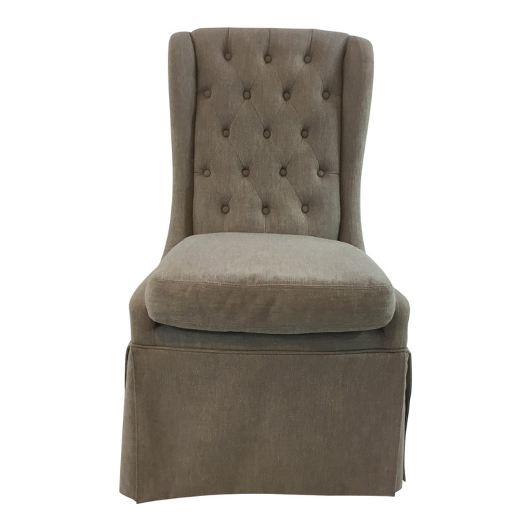 Aiden Gray Issac Tufted Back Parsons Chair