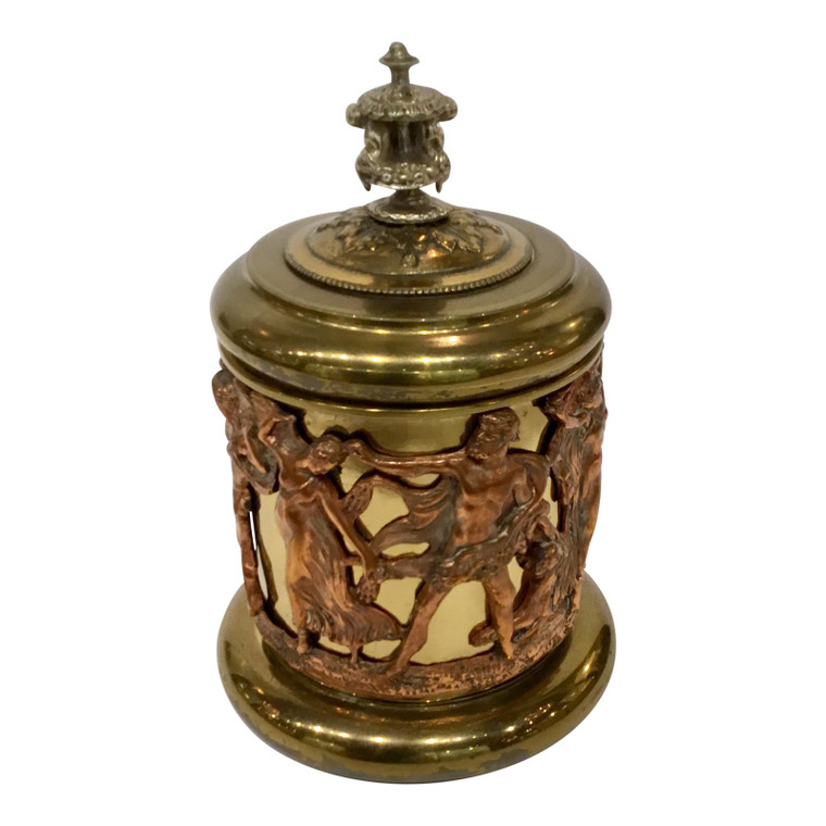 Antique Figural Copper and Bronze Humidor