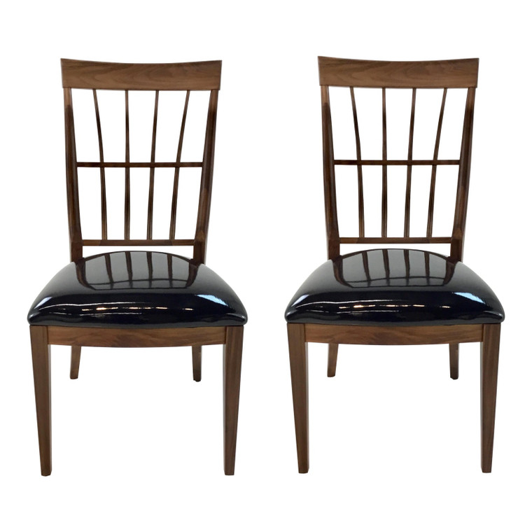 Caracole Modern Craftman Dining Chairs Pair