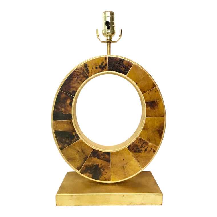 Currey & Co. Modern Gold Leaf Finished Pen Shell Table Lamp