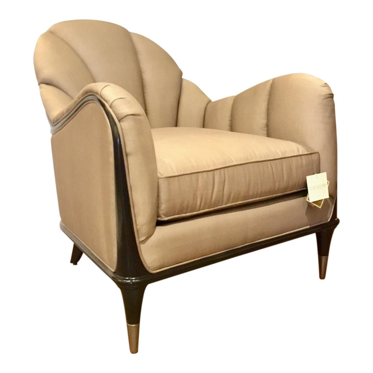Modern Caracole Taupe Channel Surfing Club Chair