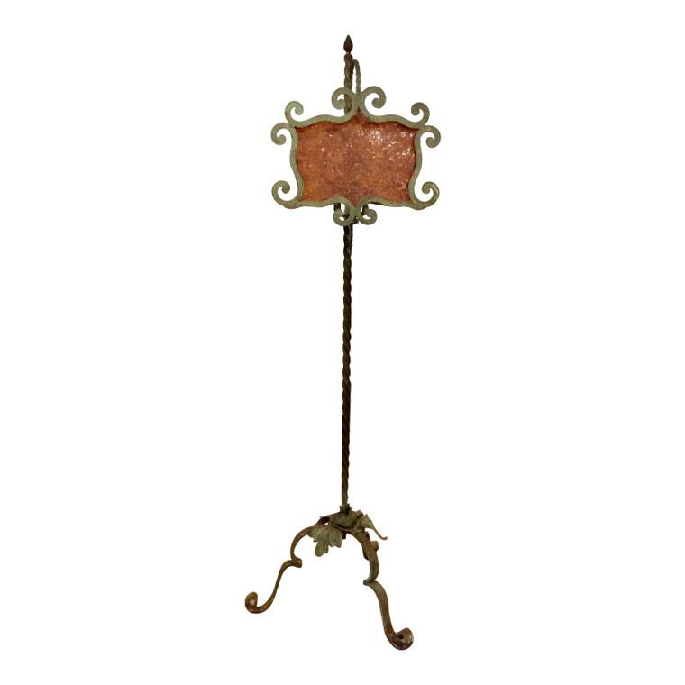Art Deco Antique Hand Forged Iron Floor Lamp