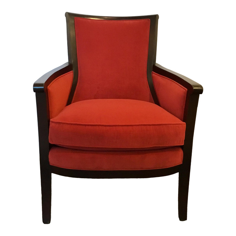 Transitional Hickory Chair Red Beck Lounge Chair