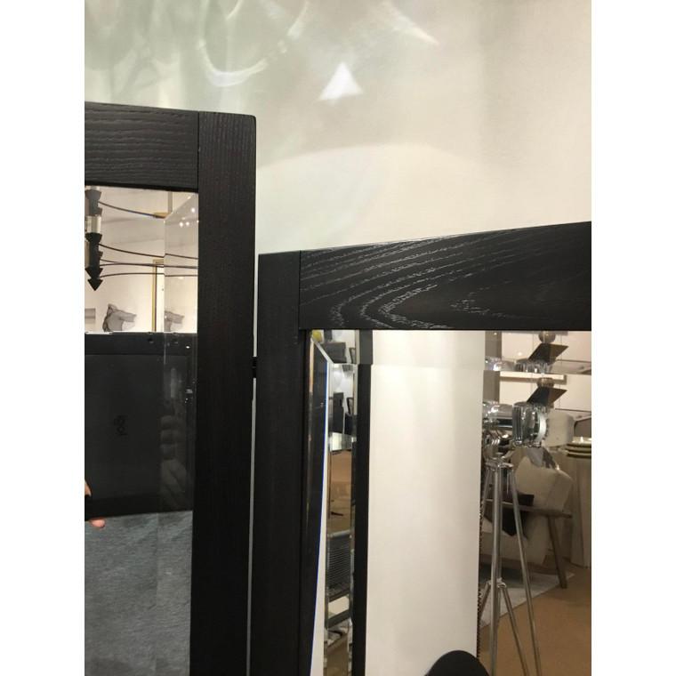 Caracole Caracole Modern Ebony Finished Wood Tri-Fold Full Length Mirror Prototype