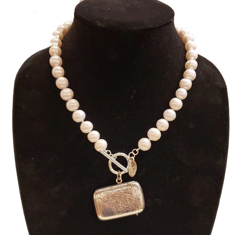 Antique Sterling Vesta Hallmarked Birmingham Necklace