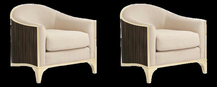 Caracole Modern Svelte Club Chairs Pair