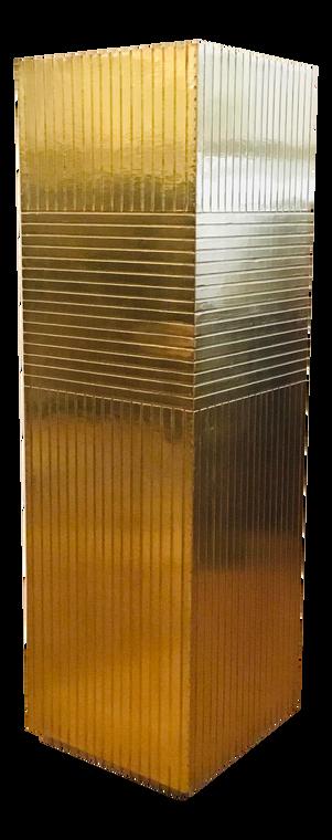 Currey & Co. Modern Brass Foil Odense Pedestal