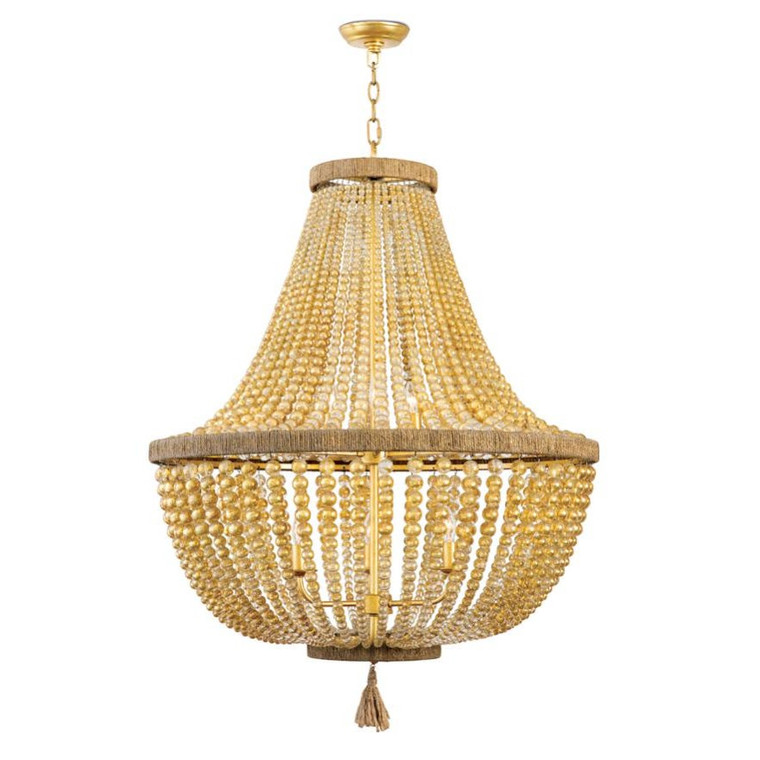 Regina Andrew Modern Gold Dior Bead Chandelier