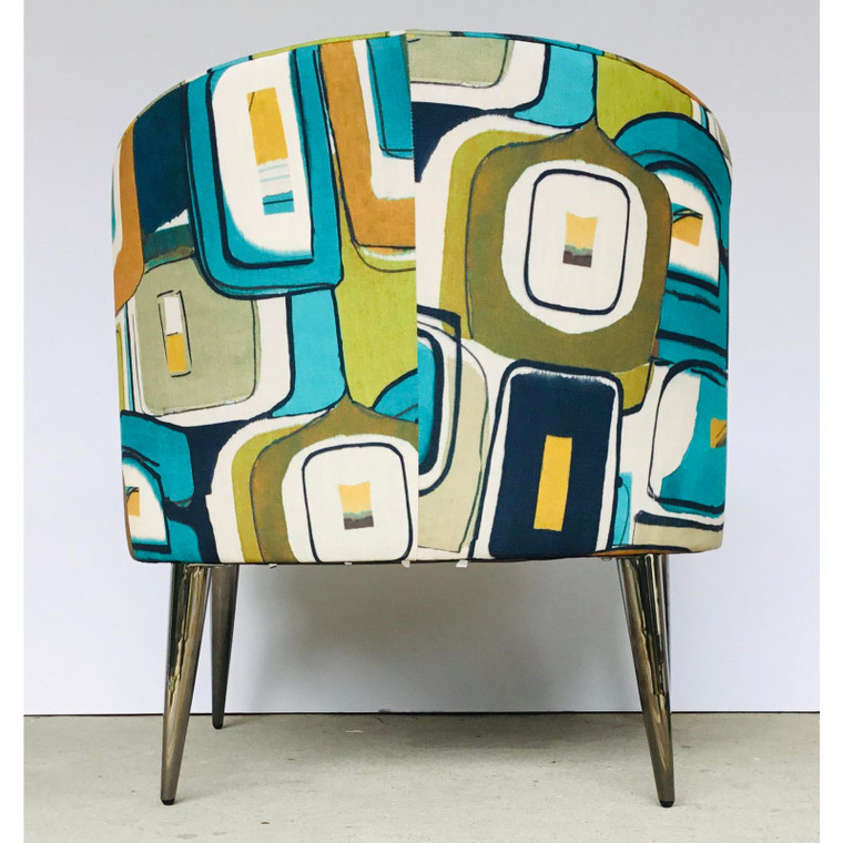 Caracole Mod Style Geometric Print Accent Chair