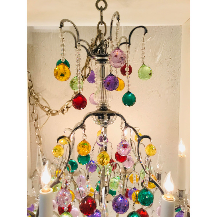 Myran Allen Luxury Lighting Multi-Color Swarovski Crystal Chandelier