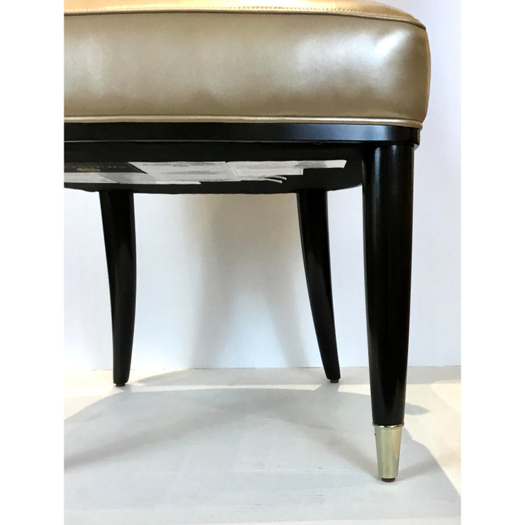 Caracole Signature Modern Taupe Leather the Aristocrat Side Chair
