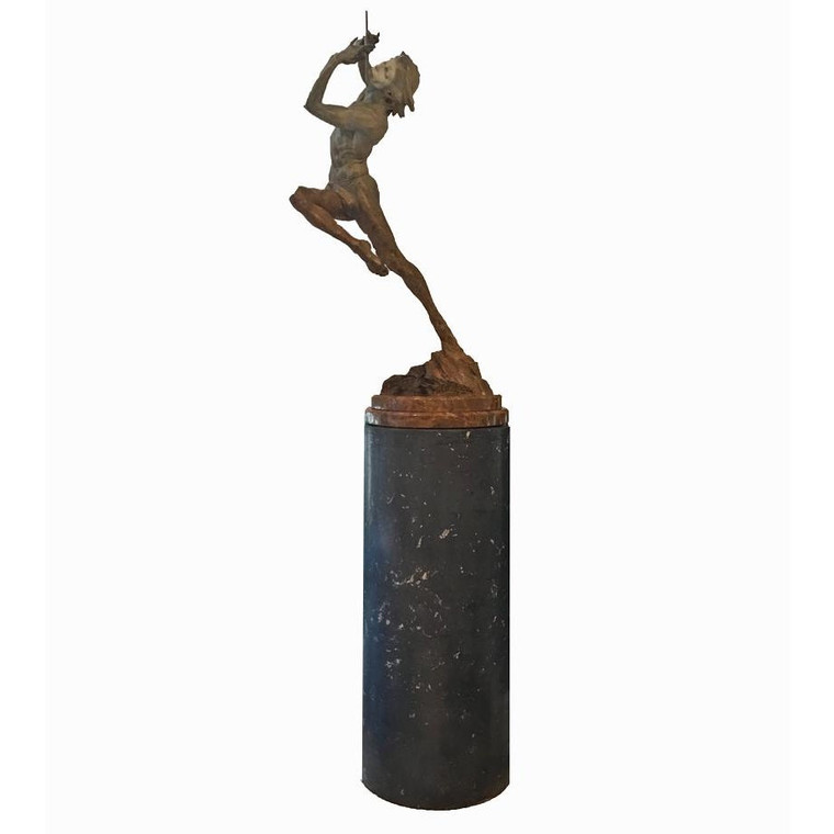 "Richard MacDonald Bronze ""The Flutist"" Sculpture Half Life Size"