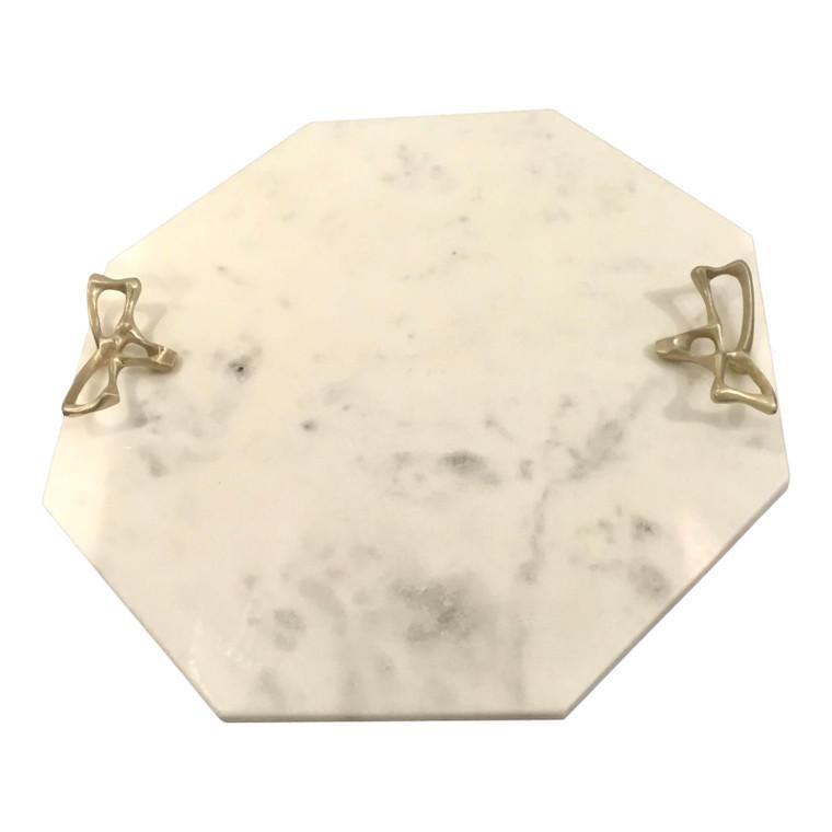 Arteriors Modern White Marble Wakefield Tray