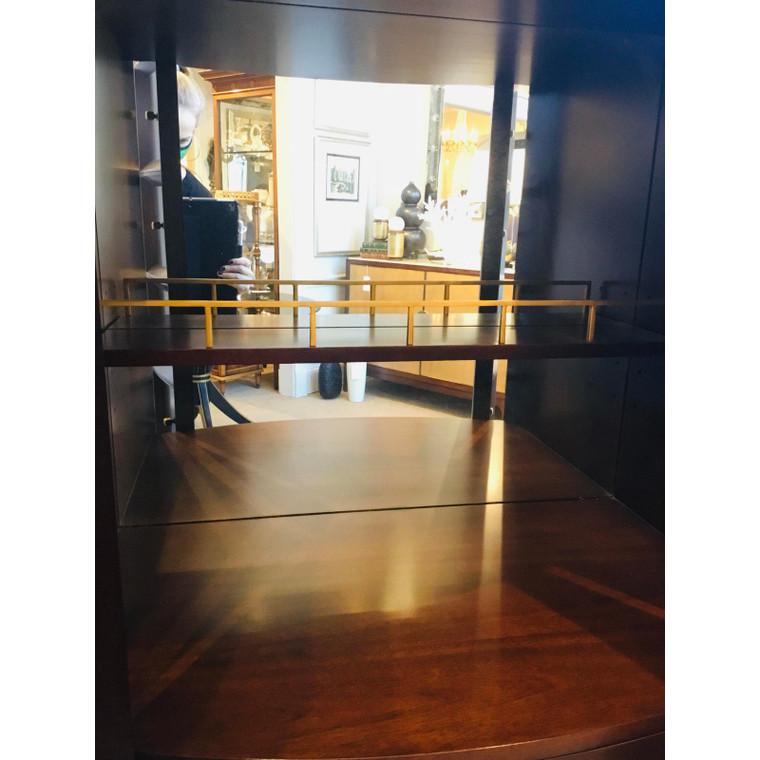 Thomas Pheasant for Baker Mahogany Bevel Bar Cabinet