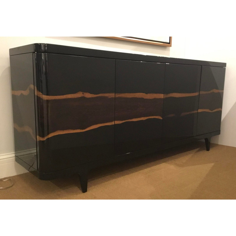 Caracole Signature Modern Lacquered Wood Naturalist Buffet