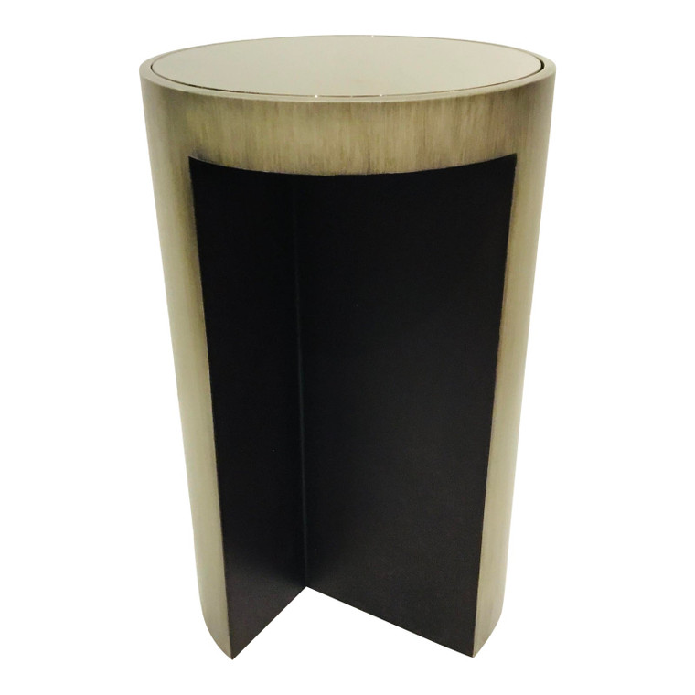 McGuire Furniture Modern Gray and Black Moon SIde Table
