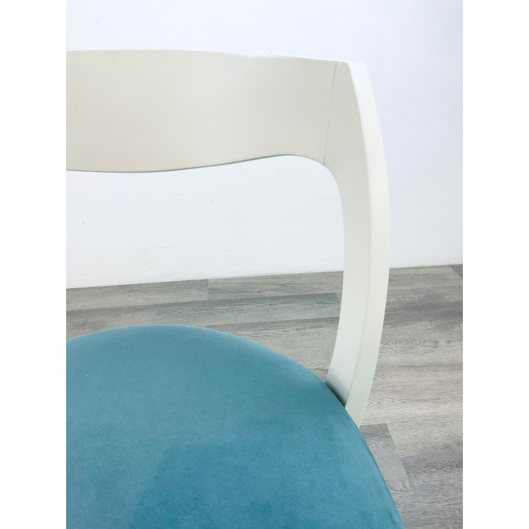 Caracole Modern Turquoise and White Tranquil Dining Chairs - Set of 10