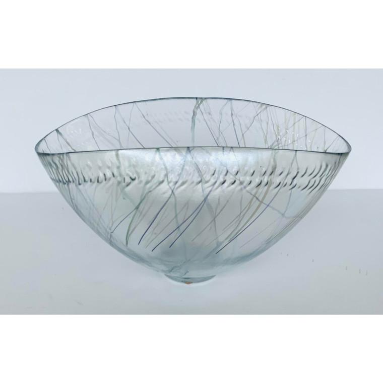 Global Views Modern Blue Spark Glass Bowl