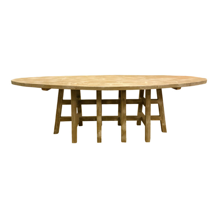 Organic Modern Large Oval Pine Dining Table