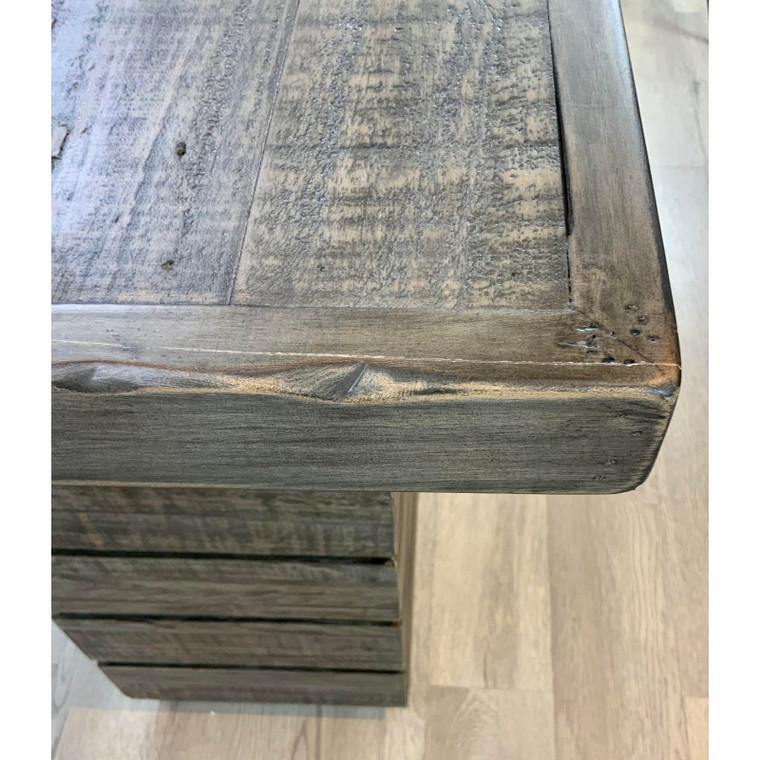 Organic Modern Rustic Gray Reclaimed Wood Shiplap Console Table