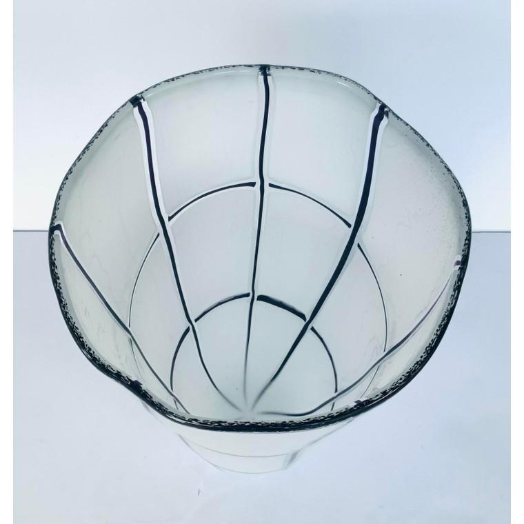 Global Views Modern Large Glass Grid Vase