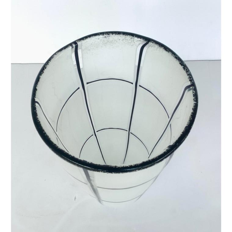 Global Views Modern Medium Glass Grid Vase