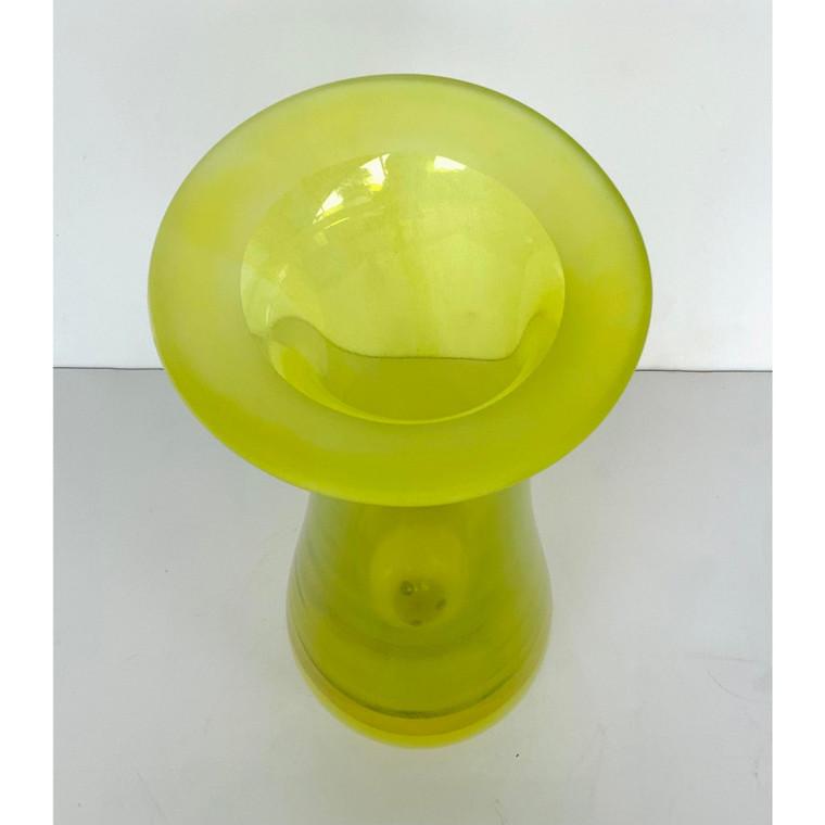Global Views Modern Medium Flair Top Citron Glass Vase