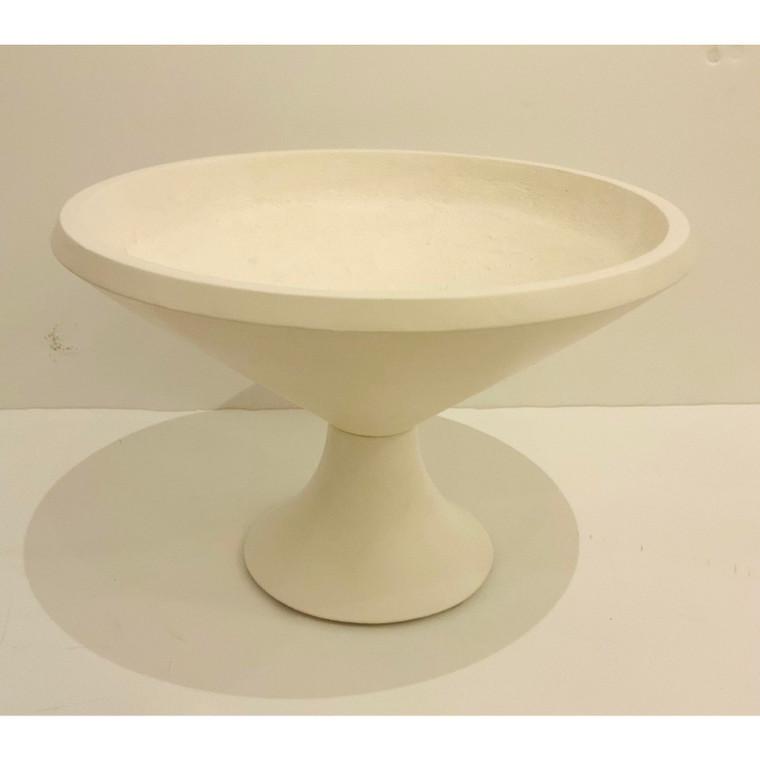 Arteriors Modern White Ceramic Cayden Centerpiece Bowl