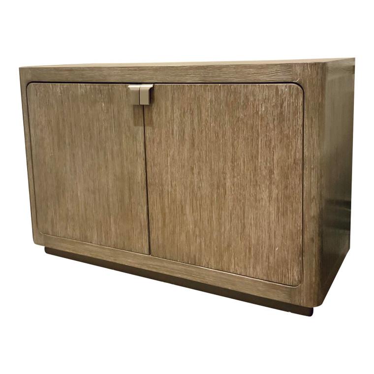 Caracole Organic Modern Greige Wood Fusion Door Cabinet