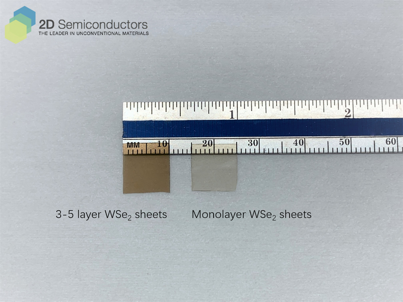 Few- vs mono-layer thick WSe2 sheets.
