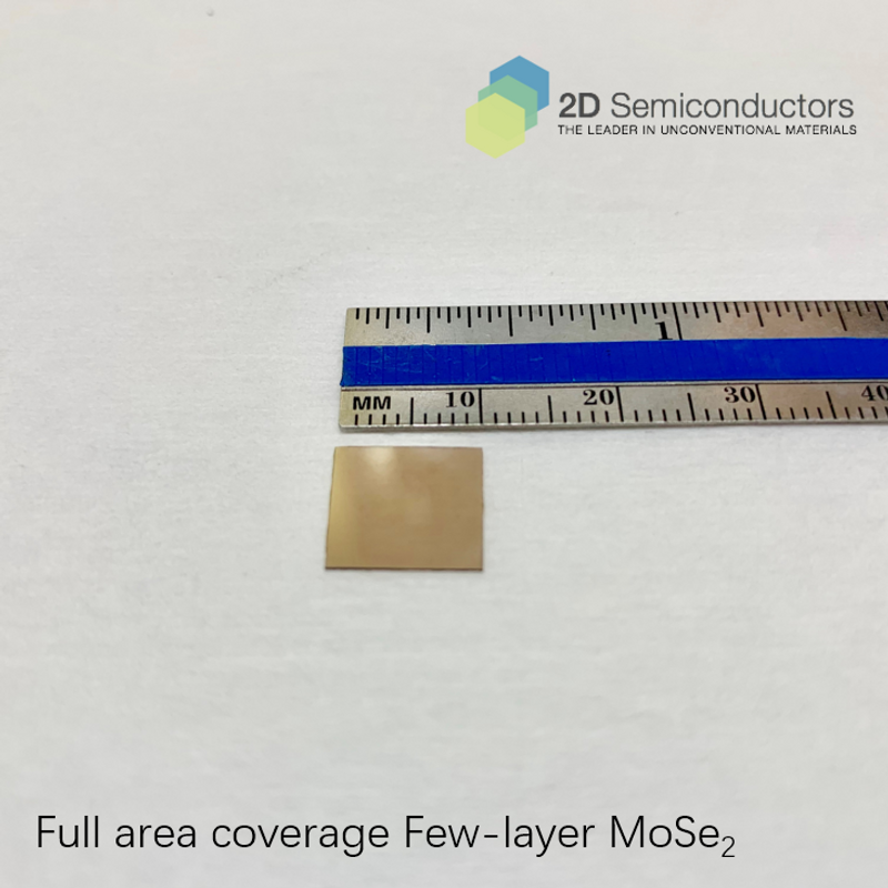 Few layer Full Area Coverage MoSe2