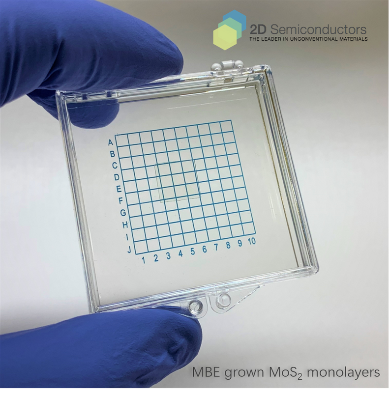 MBE grown MoS2 monolayers