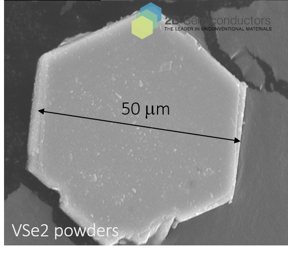 VSe2 vdW powders