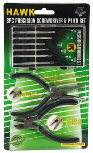 8pcs Precision Screwdriver and Plier Set  DT6002
