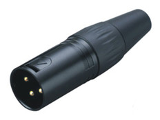 XLR 3-pin Gold Plug  PL-135XTBK