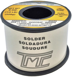 "200g. Solder Wire, 60/40, 1mm/0.039""  24-6040-40TMC1/2"