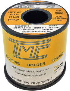 "1 lb. Solder Wire, 60/40, 2.5mm/0.098""  24-6040-98TMC"