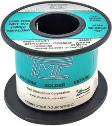 """100g. (Lead-Free) Solder Wire, 0.8mm/0.031""""  24-9901-31TMC1/4"""