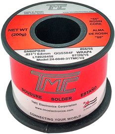 "200g. Solder Wire, 60/40, 0.8mm/0.031""  22-6040-31TMC1/2"