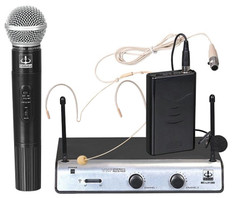 Dual Wireless/Headset/Lavalier VHF+Plus Mic System  MC-LX1288