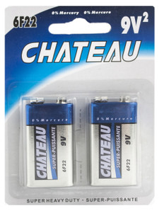 9V Super Heavy Duty Batteries (2pcs)  9V2CH