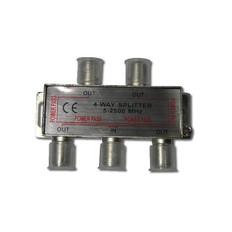 4-Way Splitter 2500MHz  IECSPLT4