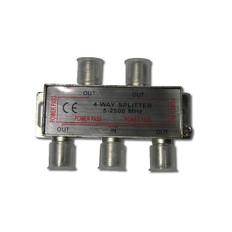 4-Way Splitter 2500MHz  IECSPLT4