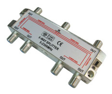 6-Way Splitter 2500MHz  IECSPLT6