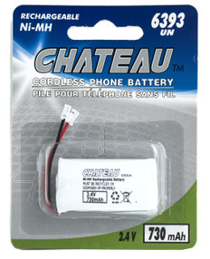 Universal 2AAA Ni-Mh battery for Cordless Phones  6393-UN