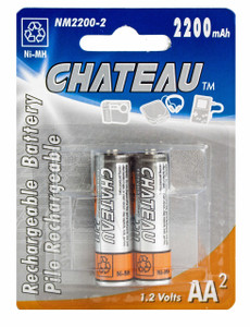 AA Rechargeable Ni-Mh Batteries (2pcs)  NM2200-2