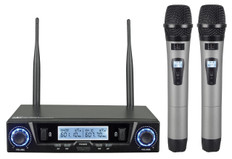 Dual Wireless UHF Microphone System  MC-702ULR