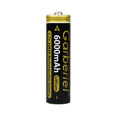 Lithium-Ion Rechargeable Battery, 3.7V, 6000mA  18650
