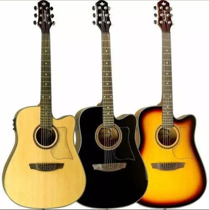 Dreadnought Body Acoustic Guitar w/ Preamp & Tuner  AF-60C