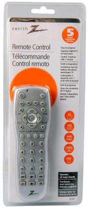 Zenith Universal Remote Control, 5 Device  ZP-505